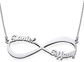 MyNameNecklace Personalized Infinity Couples Name Necklace-Eternal Jewelry with 2 Names