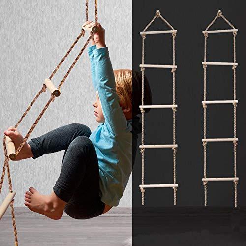 Hignful Accesorios Al Aire Libre - Escalera De Cuerda De Escalada para Niños Juego De Columpios para Niños con Cuerda para Niños,para Columpios De Ejercicios De Escalada(con Accesorios)