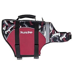PlayaPup Dog Life Jacket, Medium, Reef Red