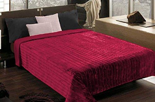DecoKing 220 x 240 cm Tagesdecke Bordeaux Bettüberwurf leicht zu pflegen Simple