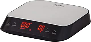 LEAF & BEAN Electronic Precision Coffee Scale with Timer Electronic Precision Coffee Scale with Timer, Black/Stainless Ste...