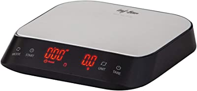 LEAF & BEAN Electronic Precision Coffee Scale with Timer Electronic Precision Coffee Scale with Timer, Black/Stainless Steel Platform, DLE0072