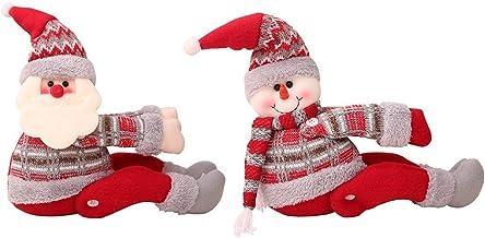 Kerst gordijn gesp, gordijn tieback, sneeuwpop sneeuwpop gordijn houder, raamdecoratie, 2 stuks