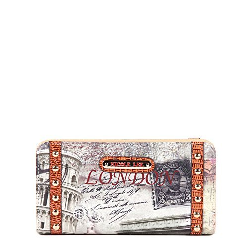Nicole Lee Gitana Vintage Print PRT4863B Wallet,London,One Size