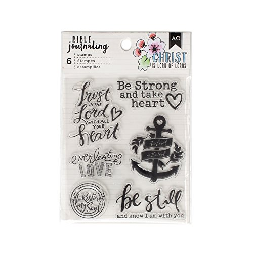 American Crafts 6 Piece Trust in The Lord Acrylic Stamp Bible Journaling