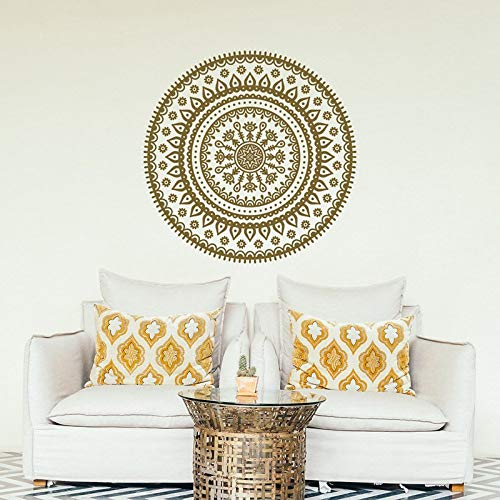 Removable Wall Decal Mandala Wall Decal Sticker Yoga Wall Decal Bohemian Style Bedroom Nursery Decoration Sticker other color 57x57cm