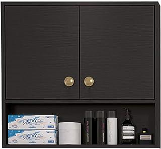 Placards et coffres de rangement Armoire latérale suspendue meuble de rangement en bois massif de cuisine casier de la sal...