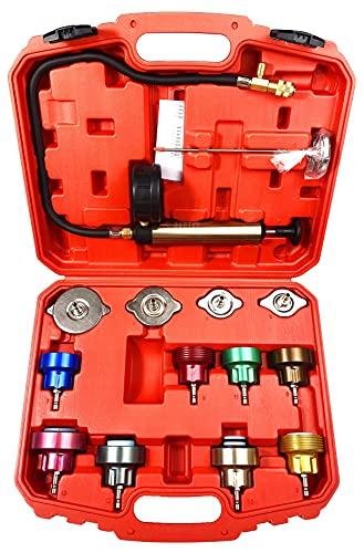 DHA 14tlg Kühlsystem Tester Abdrückgerät Kühlsystemtester Kühlsystem Prüfgerät Kühl System Tester Druckprüfung KFZ