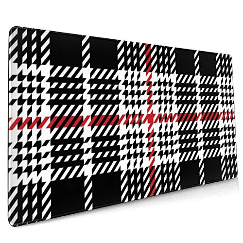 Extend Mouse Pad Glen Plaid Pattern Hounds 40 X 90 cm Soft Cloth Gaming Mouse Pad with Smooth Non Slip Base