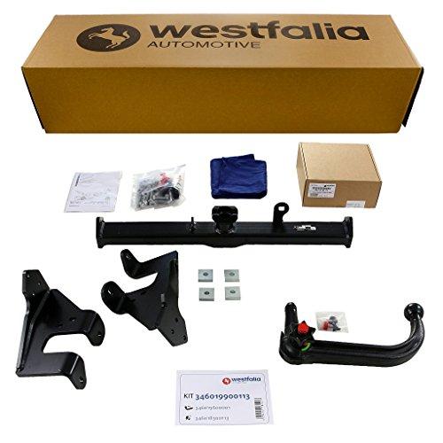 Westfalia Abnehmbare Anhängerkupplung für Hyundai Tucson (BJ 09/04-03/10) im Set mit 13-poligem fahrzeugspezifischen Westfalia Elektrosatz