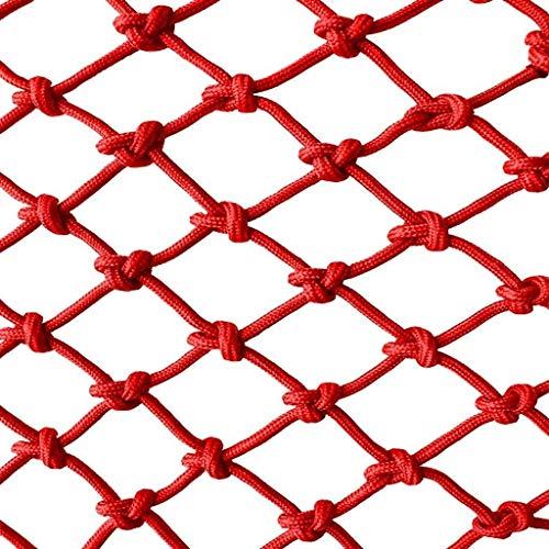 AI LI WEI Protective Net Decoratie/bescherming voor kinderen, creatief net, omheining, trappen, balkon, ramen, veiligheidsnet, valbeveiliging, kinderen, voorschooldecoratie, neto, hanger, rood