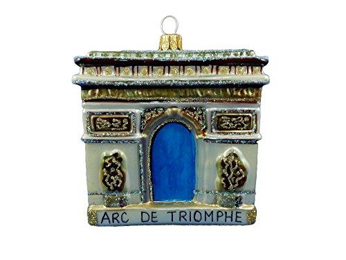 Paris France Travel Souvenir Arc De Triomphe Arch of Triumph French Revolution Landmark Polish Glass Christmas Tree Ornament