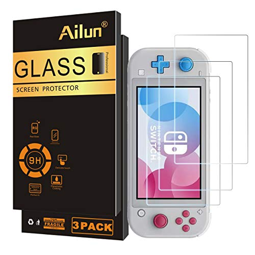 Ailun Screen Protector for Nintendo Switch lite 3Pack Tempered Glass for Nintendo Switch lite 2019 Anti Scratch