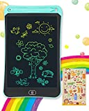 Genialba LCD Writing Tablet 8.5-Inch Colorful Doodle Board, Toddler Learning Educational Toys Gifts for 3-7 Years Old Girls and Boys, Electronic Drawing Tablet Drawing Pad for Kids (Blue)