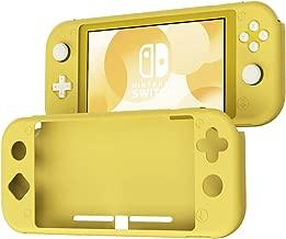 スイッチライト カバー ケース Nintendo Switch Lite 全面カバー シリコン素材 衝撃吸収 擦り傷防止 ソフトケース 任天堂 NS ニンテンドースウィッチ Lite (イエロー)