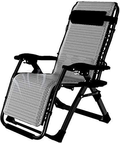 Yuany Silla Silla al Aire Libre con la Taza y el teléfono Holder Heavy Duty, sillas Plegables Exterior, Silla de Fundas de Almohada