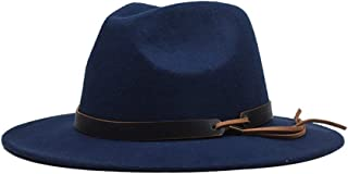2019 Mens Womens Hats Womens Winter Fedora Hat for Women Lady Outdoor Sun Beach Hat Travel with Leather Belt Wide Brim Hat Winter Outdoor Casual Hat Size 56-59CM Soft
