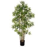 artplants.de Bambú Artificial con 960 pequeñas Hojas, 110cm - Árbol Artificial - Planta...