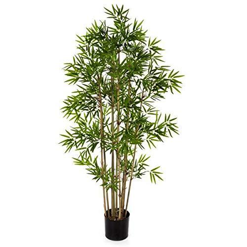 Bambú Artificial con 960 pequeñas Hojas, 110 cm - Árbol Artificial/Planta Decorativa - artplants