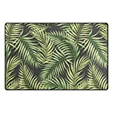 Yochoice Non-slip Area Rugs Home Decor, Vintage Tropical Exotic Palm Tree Leaves Floor Mat Living Room Bedroom Carpets Doormats 31 x 20 inches