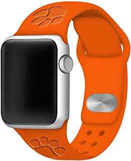 Affinity Bands Clemson Tigers Debossed Silicone Band Compatible with The Apple Watch - 42mm/44mm