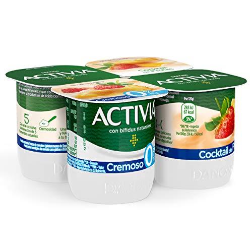 Activia Cremoso Sabor Multifrutas 0% M.G. 4x120 g