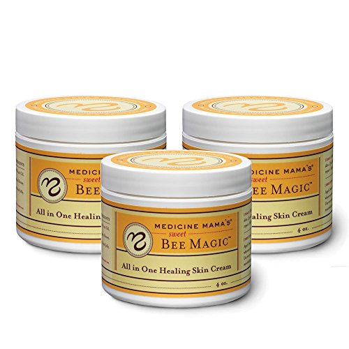 Medicine Mama's Apothecary Sweet Bee Magic All in One Healing Skin Cream, 3 Count/12 Ounces Total