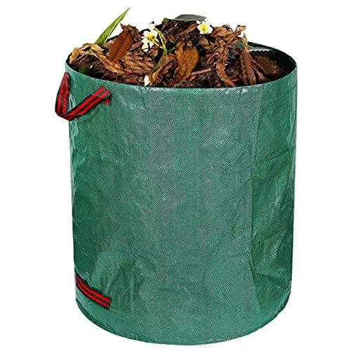 LERT 500L Gartensack Gartenabfallsack 80*100cm Gartentaschen Gartenmüllbeutel Abfallsäcke für Gefallene Blätter/Laub