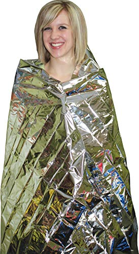 ANMEILU Emergency Mylar Thermal Blankets -Space Blanket Survival kit Camping Blanket (4-Pack). Perfect for Outdoors… 5