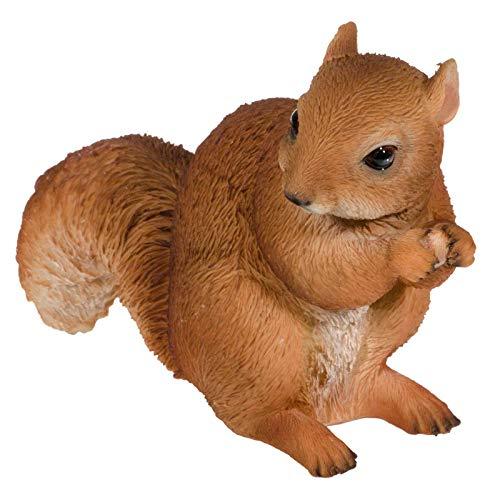 SIDCO Deko Eichhörnchen Garten Skulptur Tierfigur Figur lebensecht Gartendeko
