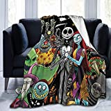 The Nightmare Before Christmas Blanket Soft Jack Skellington & Sally Throw Blankets for Couch Bed Living Room Sofa,Super Soft and Lightweight Fleece Blanket,Suitable for All Seasons。 (80, 60)