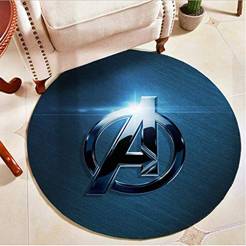 The Avengers Superhero Alfombra Redonda Alfombra De Piso Dormitorio Sala De Estar Alfombras Antideslizantes Alfombra De Piso Alfombra De Juego Para Niños Alfombra Para Silla De Computadora 180 Cm