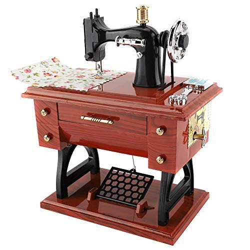 Nikou Music Box - Sewing Machine Style Music Box Collection Anniversary Birthday Gift Table Decor Best Gift for Child