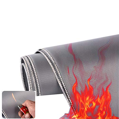 LJIANW-lonas impermeables exterior, Soldadura Eléctrica Paño Ignífugo Retardante De Llama Alta Temperatura Aislamiento Lona Alquitranada Familiar Cobija Extintora, 20 Tamaños
