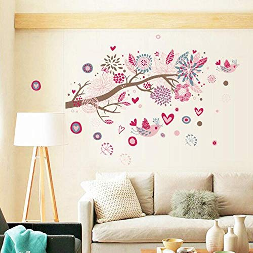 Home Decoration Rosa Blumen Schlafzimmer Aufkleber TV Wandaufkleber Kostenloser Versand |Wandaufkleber |Aufkleber Wandaufkleber |Hauptdekoration50x70cm