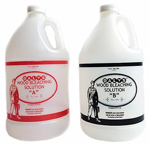 Daly's Wood Bleach Solution Kit Containing Solution A and B, 2 Gallons Each