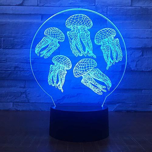 Groene Giraffe Model 3D LED Nachtlampje met Afstandsbediening Touch Bureau lamp USB Illusie coaxiale Licht Slaapkamer Kinderkamer Licht