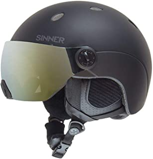 Sinner Ski & Snowboard Helmet with Visor Goggles for Men and Women in Unisex Adult Snow Protection for Skiing & Snowboarding - Lightweight & Comfortable with Adjustable fit