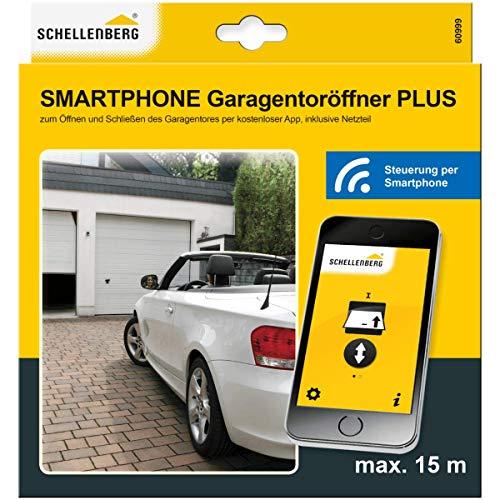 Schellenberg 60998 Universal Smartphone Garagentoröffner, inkl. App Bluetooth Empfänger, Einsetzbar wie ein Handsender, für Garagen- und Außentore einfach Nachrüsten inkl. Netzteil