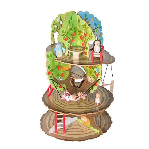 roba Baumhaus '4 Jahreszeiten', Holz Spielzeug-Baum mit 4 Spielseiten, inklusive Tieren und Zubehör