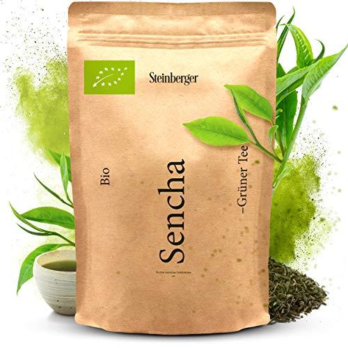 Premium BIO Sencha Grüntee von Steinberger | fein-herb aromatischer Grüner Tee | 500 g im wiederverschließbaren Aromapack
