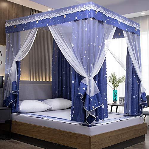 TYSYA vierkante muggennet-ijzeren frame bed luifel volledig overdekt bed mantle 3 deuren prinses muggennetje kind meisje kamer decoratie snelle installatie anti-muggen licht blokkeren