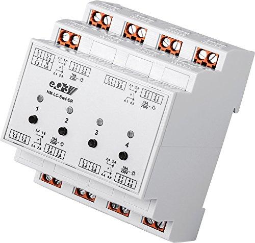 EQ3 91836 HomeMatic Funk-Schaltaktor 4-fach, Hutschienenmontage