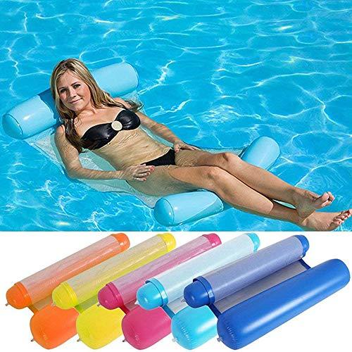 YST Zufällige Aufblasbare Hängematte Mit 2 Farben, Umweltfreundlicher Tragbarer PVC-Pool, Wassersofa-Liegestuhl, Luftmatratze, Schwimmendes Floß Für Erwachsene Kinder