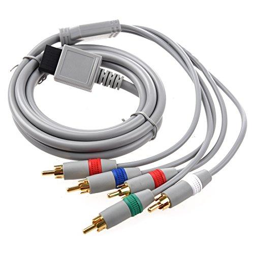 Cavo AV Component per WII - TOOGOO(R) RCA YPbPr cavo component AV audio video 1.7m per Nintendo WII