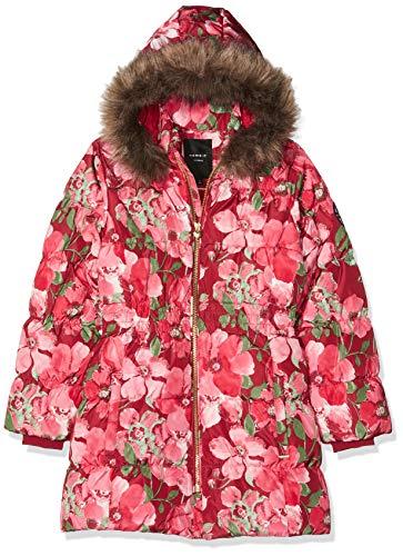 NAME IT Mädchen NKFMOLLY DOWN Jacket AOP Camp Jacke, Mehrfarbig (Biking Red Biking Red), (Herstellergröße: 134)