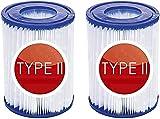 CXYXHW Cartucho de filtro de piscina tipo II para filtros Bestway II, tamaño 2, cartucho de filtro de piscina tipo II, cartuchos fáciles de usar (2 unidades)