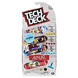 Tech Deck - 6028815 - Pack de 4 Finger Skates - Modèles Aléatoires