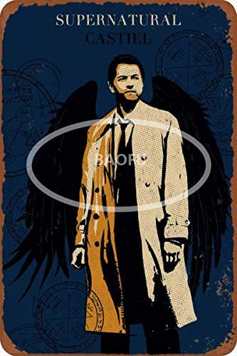 Wild boy Castiel Supernatural Jahrgang Retro Werbung Metall Zinn Zeichen Mauer Plaketten von Original Cafe Bar Pub Karneval