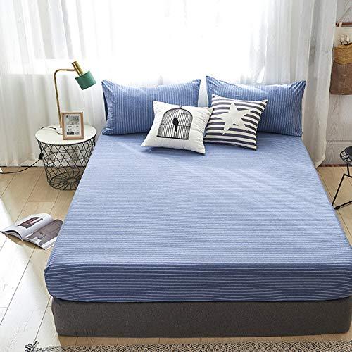 Hoeslaken, hoge kwaliteit, 100% katoen, hoeslaken, voor matras, vier hoeken, met elastiek, dekbedovertrek, Queen King Volle, grootte Twin 120 x 200 x 28 cm A